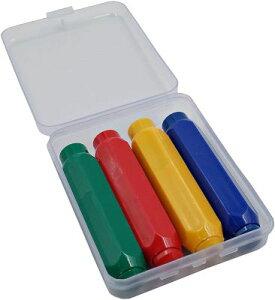 マグネット付き チョークケース セット ノック式 黒板 描画 青 赤 黄 緑 1個セット 教師 子供 かわいい 教員 プラスチック 軽量 チョークホルダー レッド イエロー グリーン ブルー
