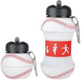 バスケ 水筒 サッカー 野球 直飲み 男の子 キーホルダー付き 2way 200ml/550ml 伸縮自在 バスケットボール スポーツ ボトル