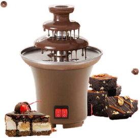 チョコフォンデュ チョコレートタワー 3層 チョコファウンテン フォンデュ鍋 パーティー 誕生日