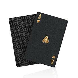 【2020最新初売版】 ブラック トランプ フレックスカード 防水 黒い マジック 手品 54枚入り ダイヤモンドシリーズ