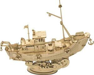 立体パズル 木製パズル クラフト プレゼント おもちゃ オモチャ 知育玩具 男の子 女の子 大人 入園祝い 新年 ギフト 誕生日 クリスマス プレゼント 贈り物(漁船 TG308)