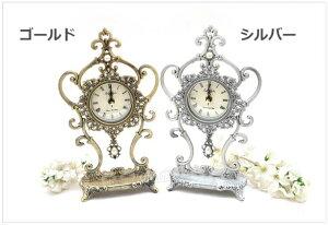 置き時計 アラベスク真珠置時計 置時計 おしゃれ 北欧 目覚まし時計 卓上 アラーム アンティーク 韓国 インテリア