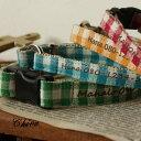 迷子札 HomeChoker Check 1cm幅犬&猫用チョーカー バックルタイプ 単品 首輪 【オーダーメイド商品(納期は4週間前後)】