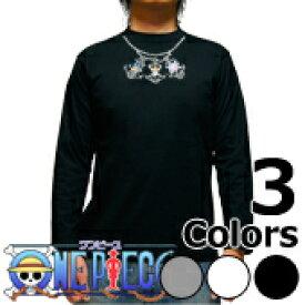CS-2776 long メンズ長袖Tシャツ ヴィンテージ★ワンピース 首飾り海賊旗 Tシャツ one piece 【楽ギフ_包装】