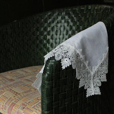 ひざ掛けハンカチ/ブロンド・ホワイト