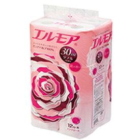 エルモア トイレットロール 花の香り ピンクダブル 2枚重ね30m 12ロール