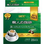 UCC上島珈琲職人の珈琲ドリップコーヒーあまい香りのモカブレンド18P×12袋