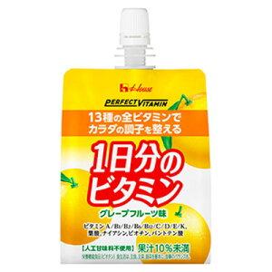 【2ケース】ハウス PV 1日分のビタミンゼリー グレープフルーツ味 180g×24個×2箱(沖縄県・離島は別途送料が必要となります)