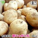 新じゃが 有機栽培 4kg 鹿児島県産 宮崎県産 有機JAS じゃがいも ジャガイモ 馬鈴薯 ポテト 春じゃが ニシユタカ