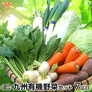 有機野菜セット おまかせ7品目 九州産 鹿児島県 有機栽培 有機JAS 冷蔵便 オーガニック 無農薬 西日本 詰め合わせ 送料無料 父の日