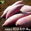 紅はるか 4kg 有機栽培 鹿児島県産 宮崎県産 土付き さつまいも 薩摩芋 サツマイモ からいも べにはるか 国産 スイー…