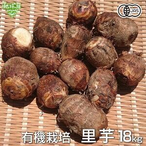 里芋 18kg 有機栽培 鹿児島県産 土付き さといも サトイモ 里いも オーガニック 無農薬 送料無料 冷蔵便 国産 業務用 まとめ買い