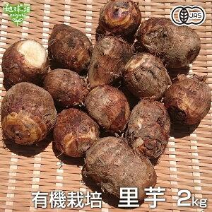 里芋 2kg 有機栽培 鹿児島県産 土付き さといも サトイモ 里いも オーガニック 無農薬 送料無料 冷蔵便 国産