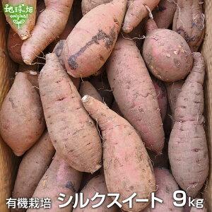 残りわずか シルクスイート 9kg 有機栽培 鹿児島県産 宮崎県産 さつまいも 有機JAS 紅系 無農薬 organic オーガニック しっとり 離乳食