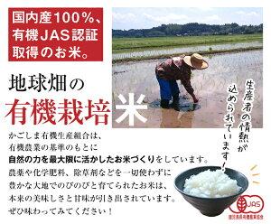 有機五分米5kg令和元年産2019年産鹿児島県有機栽培有機JAS認証化学肥料・農薬・除草剤不使用五分精米5分米送料無料