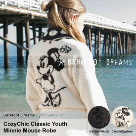 Barefooot Dreams ベアフットドリームス コージーチック クラシック ディズニー ミッキー ミニー ユース ローブ CC Youth Mickey & Minnie Mouse Robe Cream/Carbon D101