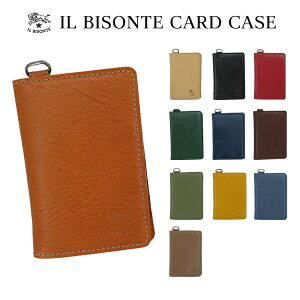 イルビゾンテ IL BISONTE カードケース 定期入れ C1153 レディース メンズ 父の日 プレゼント レザー
