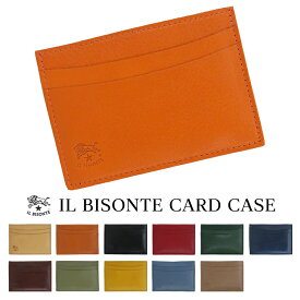 イルビゾンテ IL BISONTE カードケース 定期入れ C0567 レディース メンズ プレゼント レザー