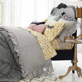 Pottery Barn teen エミリー メリット フリル ストライプ 枕カバー スタンダードサイズ