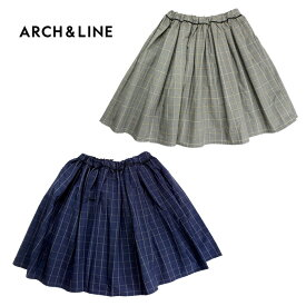 (20%OFF SALE)ARCH&LINE(アーチアンドライン)CHECK AIRLY GATHER SKIRT (チェック柄スカート)-2502【125cm〜145cm】【宅配便】
