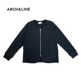 (SALE 20%OFF)ARCH&LINE(アーチアンドライン)MESH INLAY ZIP CARDIGAN (メッシュカーディガン)-1326【145cm〜165cm】【宅配便】