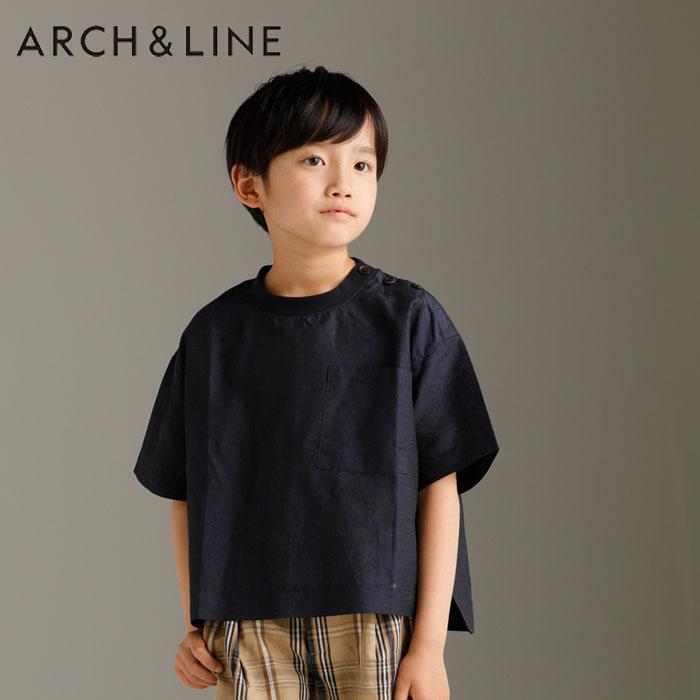 ARCH&LINE(アーチアンドライン)Co/Li BIG POCKET SHIRT TEE(半袖Tシャツ)-1114【145cm〜165cm】【メール便OK】