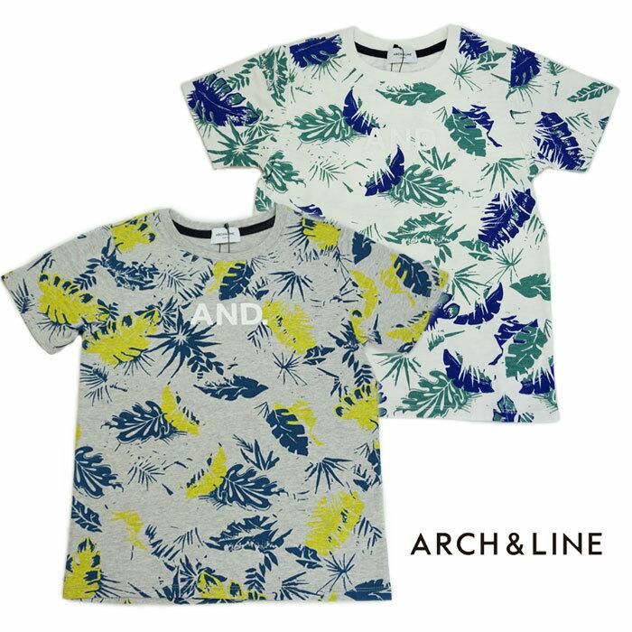 ARCH&LINE(アーチアンドライン)SLUB LEAFS TEE(半袖Tシャツ)-1316【145cm〜165cm】【メール便OK】