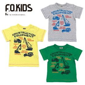 (SALE 30%OFF)【夏】F.O.KIDS(エフオーキッズ)働く車Tシャツ-R7149【80cm〜140cm】【メール便OK】