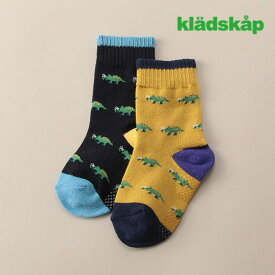 kladskap(クレードスコープ)恐竜配色クルーソックス-3418【11cm〜20cm】【メール便OK】