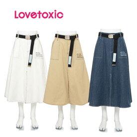 (2020SS)ラブトキシック(LOVETOXIC)ベルトつきスリットマキシスカート-1109 【140cm|150cm|160cm】【宅配便】
