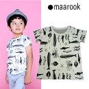 maarook(マルーク)天竺うみのいきものプリントTシャツ-7306【100cm〜130cm】【メール便OK】