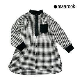 maarook(マルーク)ギンガムロングシャツ-4012【110cm〜150cm】【宅配便】