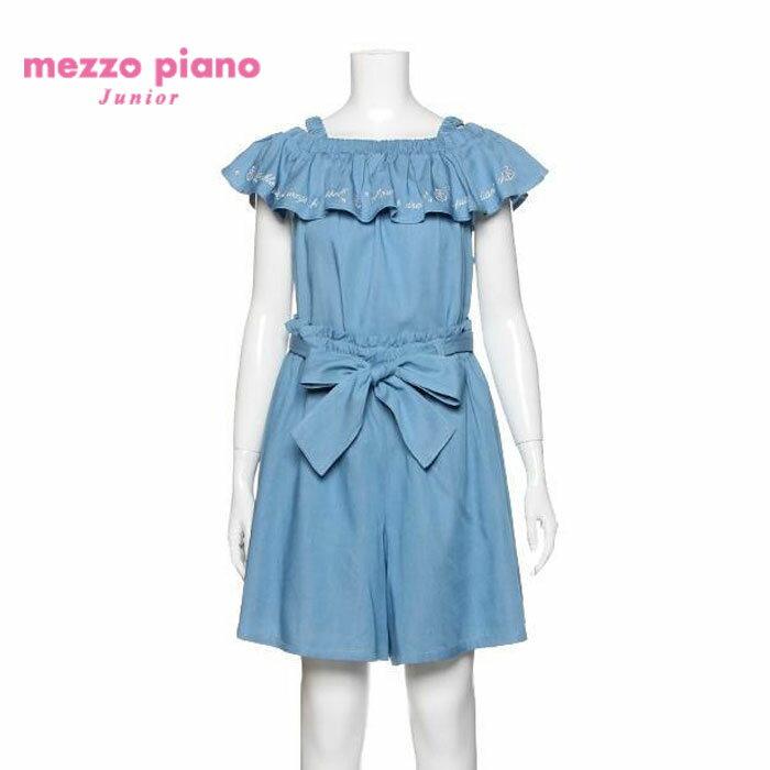 【SALE50%OFF】mezzopiano junior(メゾピアノジュニア)オフショルダーブラウス×キュロットセット-1392【140cm|150cm|160cm】【宅配便】