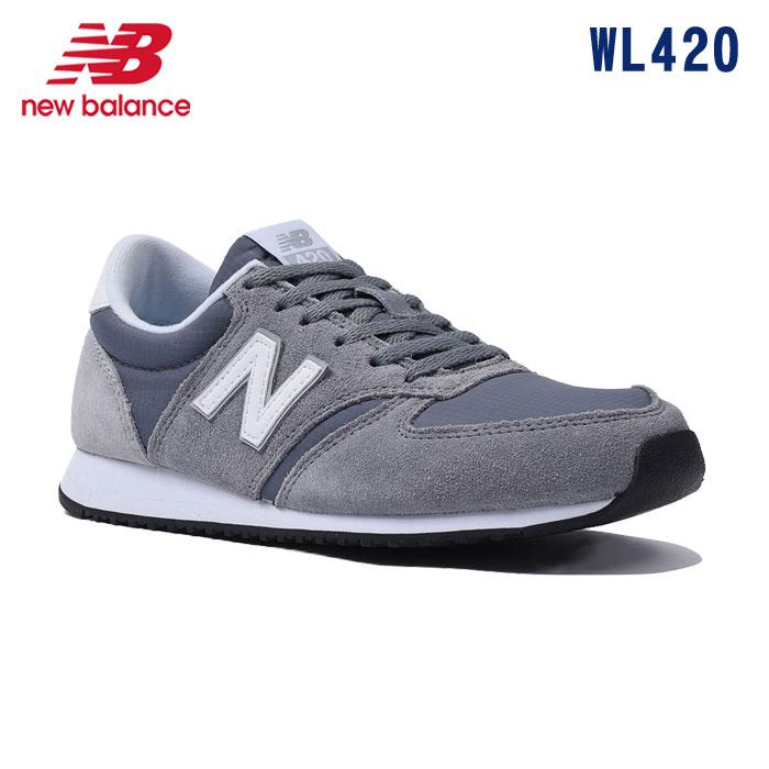 (SALE)【正規品】New Balance(ニューバランス)WL420スニーカー【23.5〜24.5cm】【CRD】(グレー)【宅配便】