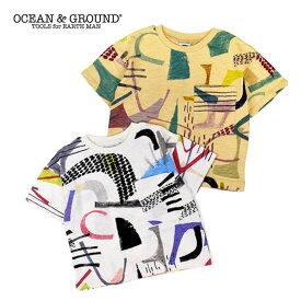 (SALE 30%OFF)OCEAN&GROUND(オーシャン&グラウンド)グラフィティ ビッグTシャツ-6161【150cm 160cm】【メール便OK】