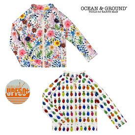 (SALE 20%OFF)OCEAN&GROUND( オーシャンアンドグラウンド)ガールズ ラッシュガード-2820【100cm〜140cm】【メール便OK】