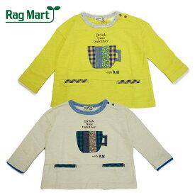 (SALE 30%OFF)Rag Mart(ラグマート) マグカップパッチワーク長袖Tシャツ-3802【80cm 90cm 95cm】【メール便OK】