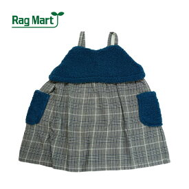 (SALE 30%OFF)Rag Mart(ラグマート)ボアグレンチェック柄ジャンパースカート-3070【100cm 110cm 120cm 130cm】【宅配便】