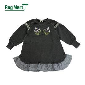 (SALE 30%OFF)Rag Mart(ラグマート)お花刺繍入りワンピース-3067【90cm 95cm】【宅配便】