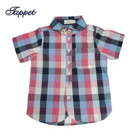 (SALE 20%OFF)Tappet(タペット)ブロックチェックシャツ-6015【110cm|120cm|130cm|140cm|150cm】【メール便OK】