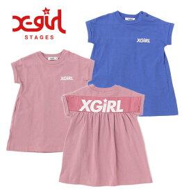 (50%OFF SALE)【追加企画】X-girl Stages(エックスガールステージス) スポーツロゴワンピース-2331【90cm|100cm|110cm|120cm|130cm|140cm】【宅配便】