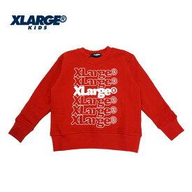 (SALE30%OFF)XLARGE KIDS(エクストララージ キッズ) リピートロゴ裏毛トレーナー4207【110cm|120cm|130cm|140cm】【宅配便】