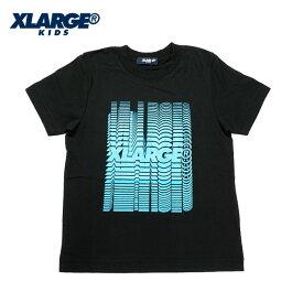 (SALE 30%OFF)XLARGE KIDS(エクストララージ キッズ) 段々ロゴプリントTシャツ-1211【110cm|120cm|130cm|140cm】【メール便OK】