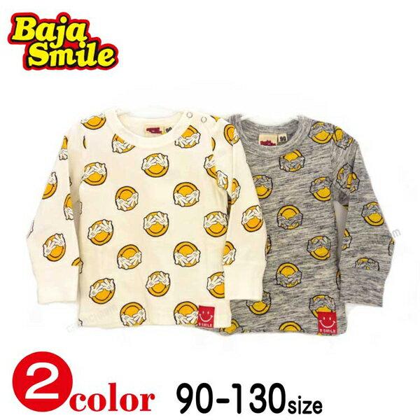Baja Smile(バハスマイル)目かくしスマイル長袖Tシャツ【メール便送料無料】