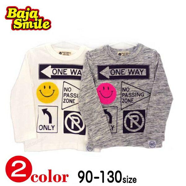 Baja Smile(バハスマイル)スマイル標識長袖Tシャツ【メール便送料無料】