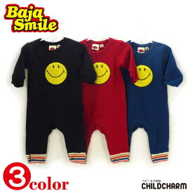 【20%OFFSALE】Baja Smile(バハスマイル)さがら刺繍スマイルロンパース【メール便可能】 期間限定 スーパーセール 子供服 2019