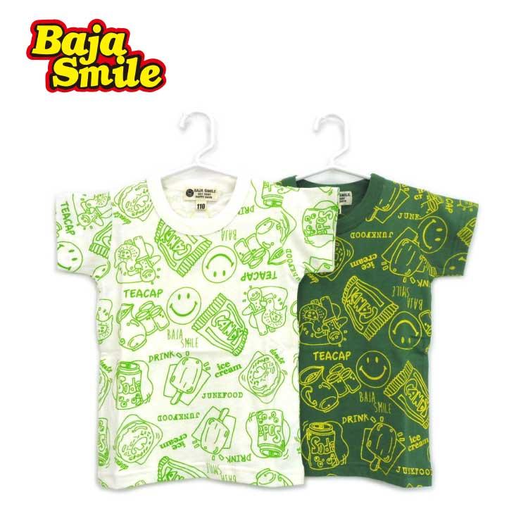 Baja Smile(バハスマイル)スイーツ柄半袖Tシャツ【メール便可能】