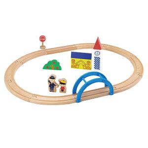 木のおもちゃ 3歳から moku TRAIN 新スタートレールセット ギフト プレゼント 木製