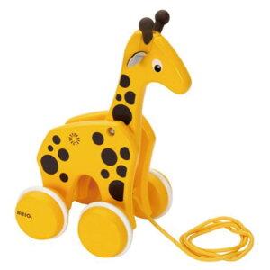 木のおもちゃ 知育玩具 12か月から BRIO プルトイ キリン木製プルトイ おもちゃ 知育 玩具 1歳から プルトイ きりん 動物 引き車 歩きはじめ 木 木製 木製玩具 赤ちゃん ベビー こども 子ども