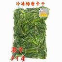 タイ産 唐辛子(緑)緑辣椒  500g 冷凍 とうからし 激辛人気商品 料理用 冷凍食品 炒め、煮込み等 冷凍のみの発送